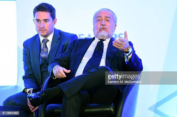 Aurelio De Laurentiis Chairman of Napoli SSC attend the Leaders Sport Business Summit at Stamford Bridge on October 5 2016 in London England