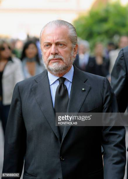Aurelio De Laurentiis President of SSC Sportive Soccer Society of Naples