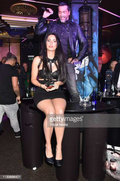 Aurelio Savina and Alina Patta during the Giulia song release party at Cheshire Cat Club on March 29 2019 in Berlin Germany