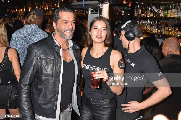 Aurelio Savina and Carolin Karch attend the VISITX Night Of The Nights party at Hotel Amano Grand Central on October 16 2019 in Berlin Germany
