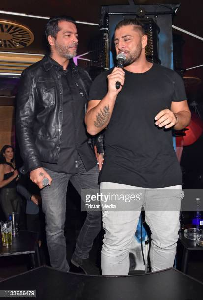 Aurelio Savina and Severino Seeger during the Giulia song release party at Cheshire Cat Club on March 29 2019 in Berlin Germany