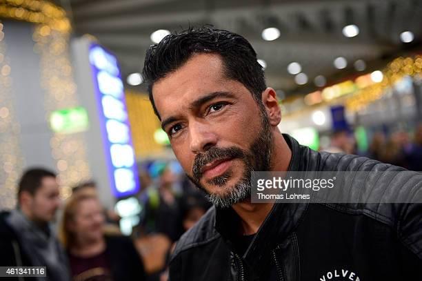 Aurelio Savina poses before the flight to Australia as a participant in the 2015 RTL-TV-Show 'Dschungelcamp: Ich bin ein Star - Holt mich hier raus!'...