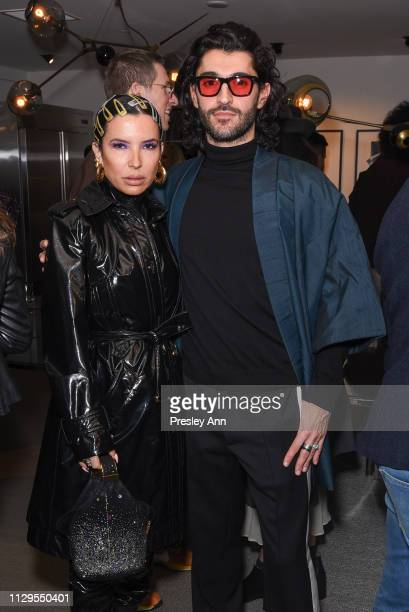 Aureta and Giampiero Tagliaferri attend Oliver Peoples x Tasya van Ree Celebrates Who is Oliver Exhibition at LECLAIREUR on February 13 2019 in Los...