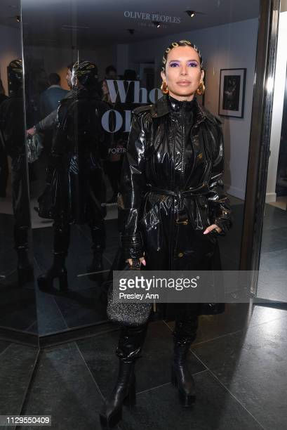 Aureta attends Oliver Peoples x Tasya van Ree Celebrates Who is Oliver Exhibition at LECLAIREUR on February 13 2019 in Los Angeles California