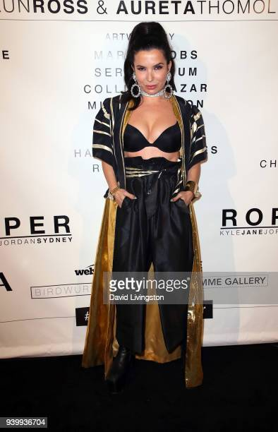 Aureta Thomollari attends Art with a Cause hosted by Shaun Ross Aureta benefiting the Freedom United Foundation for the victims of human trafficking...