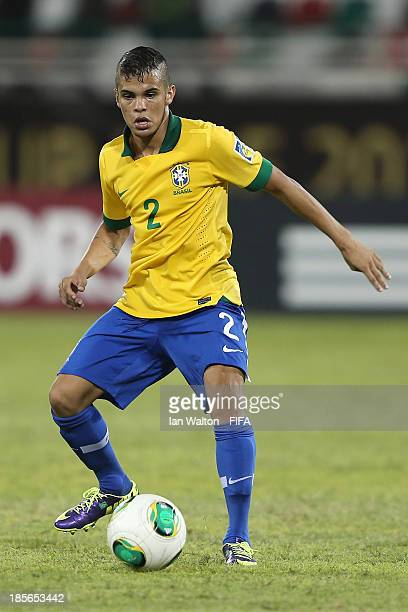 Auro of Brazil during the Group A FIFA U17 World Cup match between Honduras and Brazil at Ras Al Khaimah Stadium on October 23 2013 in Ras al Khaimah...