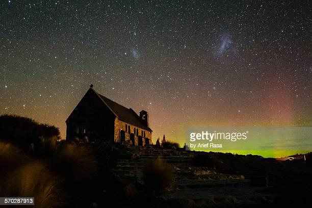 Aurora Above Church Of Good Shepherd