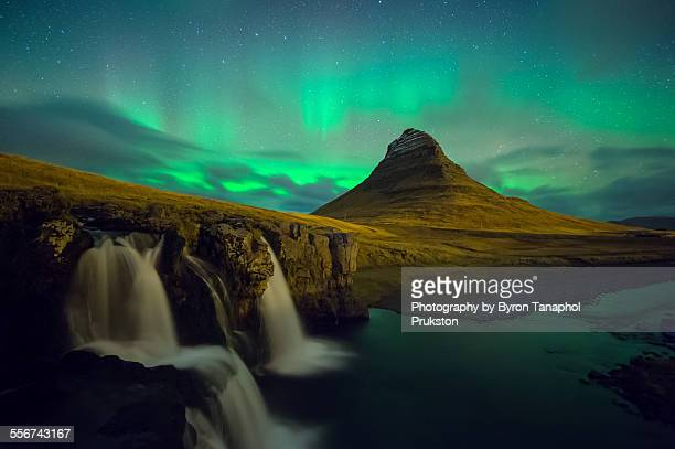 Aurora above the Kirkjufell