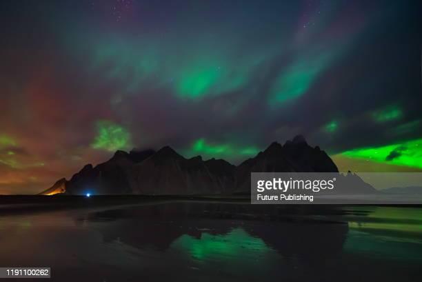 ICELAND ICELAND OCTOBER 1 2019 Aurora at night over Iceland Iceland October 1 2019 PHOTOGRAPH BY Costfoto / Barcroft Media