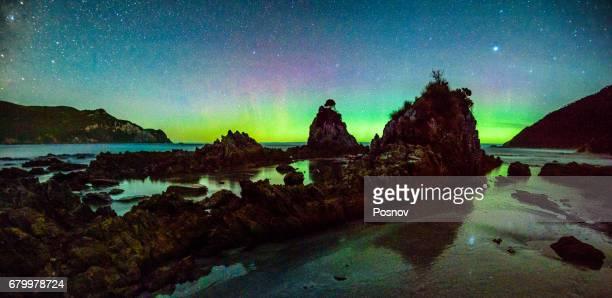 Aurora Australis at Wilson Bright, South West Cape track, Southwest Tasmania