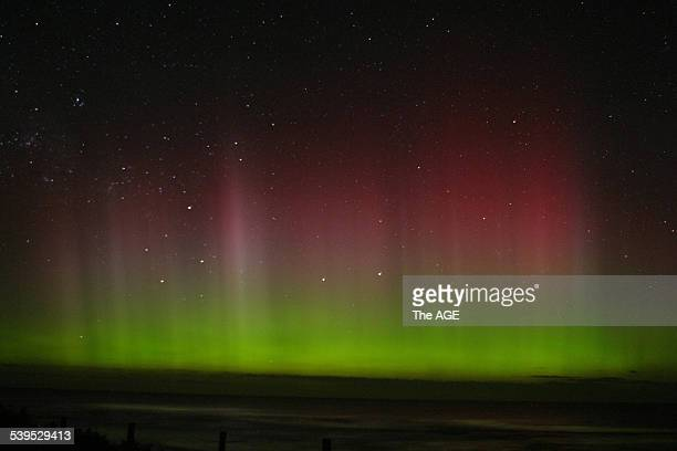 Aurora Australis from Rye Back Beach this morning Wednesday 10th November 2004 THE AGE NEWS Picture by STEB FISHER PHOTOGRAPHY