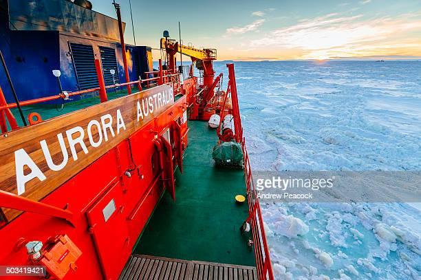 Aurora Australis in pack ice