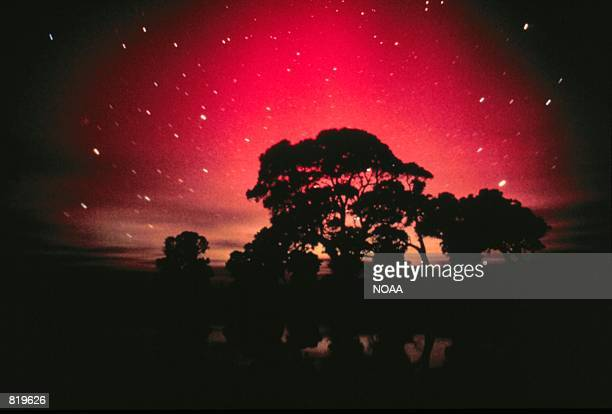 Aurora Australis the Southern Lights as seen from South Australia as with Aurora Borealis are displayed during strong geomagnetic events According to...