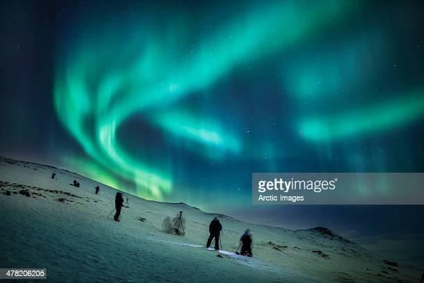 aurora borealis, abisko, sweden - swedish lapland stock photos and pictures