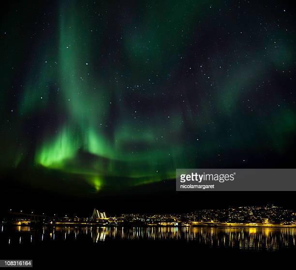 Aurora Borealis above Tromso, Norway