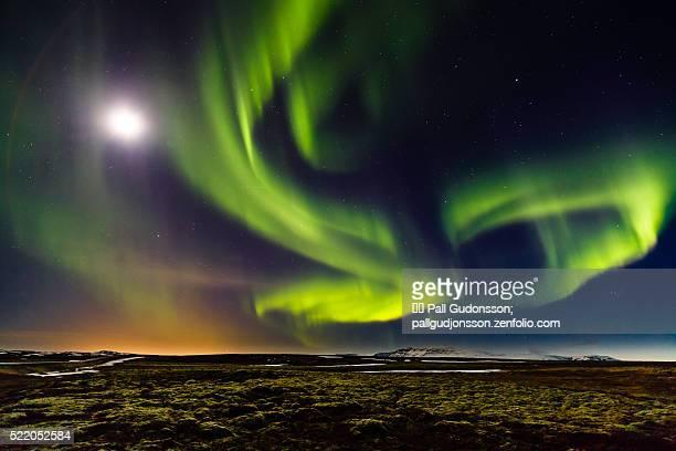 Aurora Borealis at Mosfellsheidi, Iceland