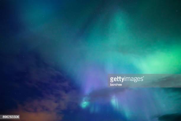 aurora borealis background - aurora stock pictures, royalty-free photos & images