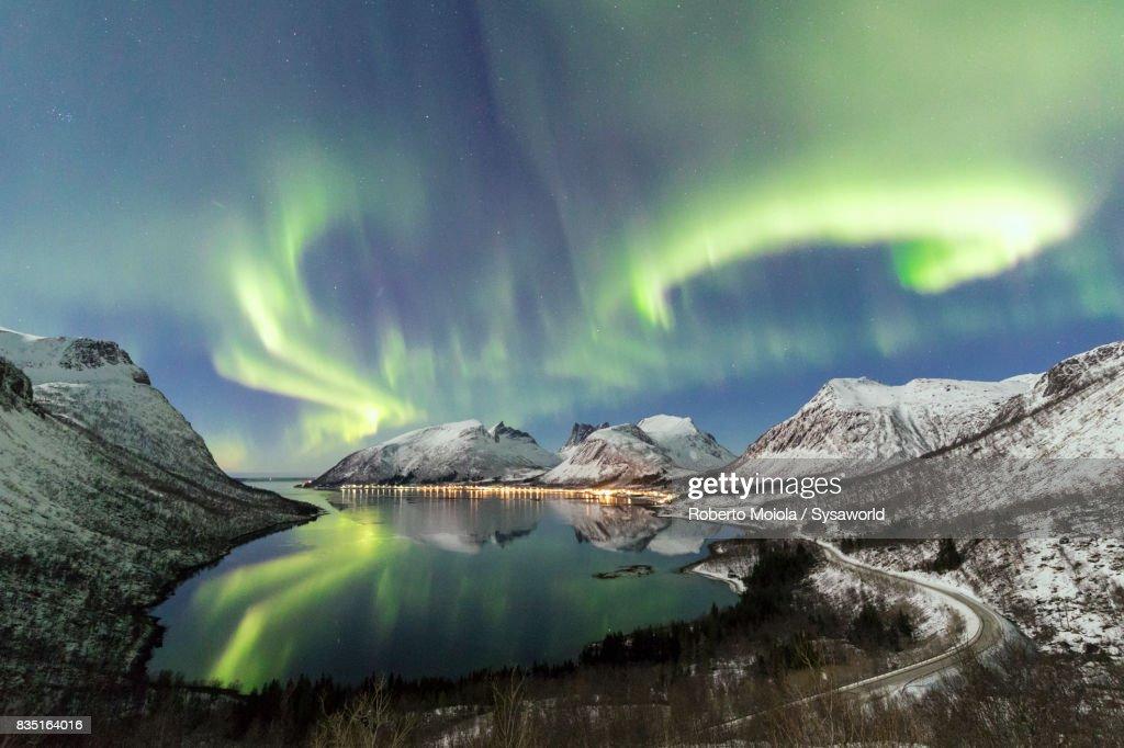 Aurora Borealis, Bergsbotn, Senja, Norway : Stock-Foto