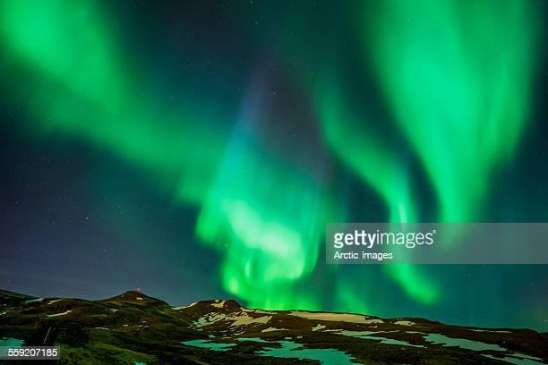 aurora borealis, iceland - aurora borealis stock pictures, royalty-free photos & images