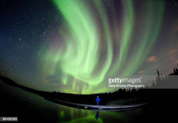 aurora borealis in canada - yellowknife canada stock pictures, royalty-free photos & images