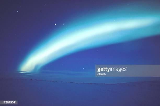 Aurora Borealis in Nunavut, Canada
