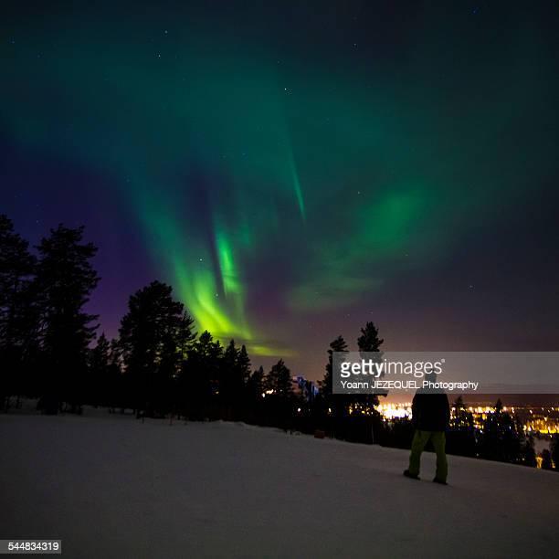 Aurora borealis / Northern lights in Lapland