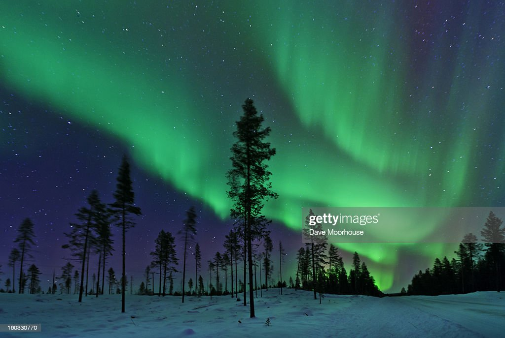 Aurora Borealis  Northern Lights Sweden : Stock Photo