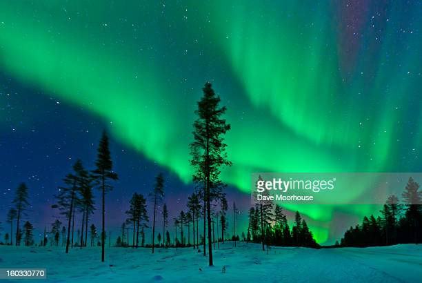 aurora borealis  northern lights sweden - aurora borealis stock pictures, royalty-free photos & images