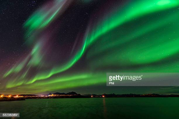 aurora borealis, norway - marginata stock pictures, royalty-free photos & images