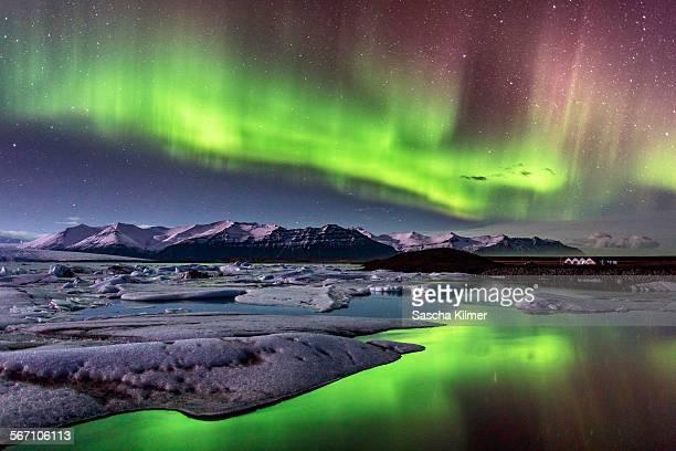 aurora borealis on iceland - reykjavik stock pictures, royalty-free photos & images