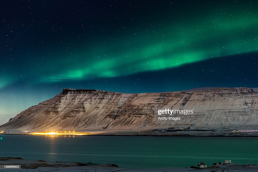 Aurora Borealis Or Northern Lights, Iceland Wall Art. Photo ID 158689900