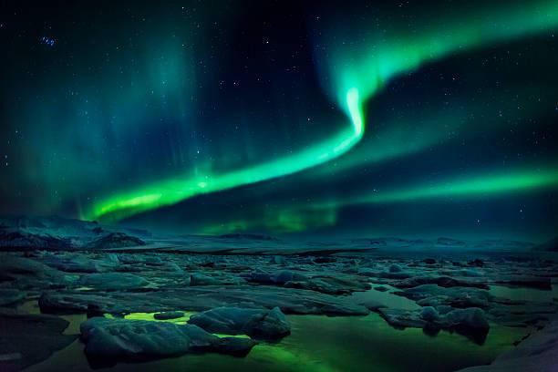 Aurora Borealis Or Northern Lights, Iceland Wall Art