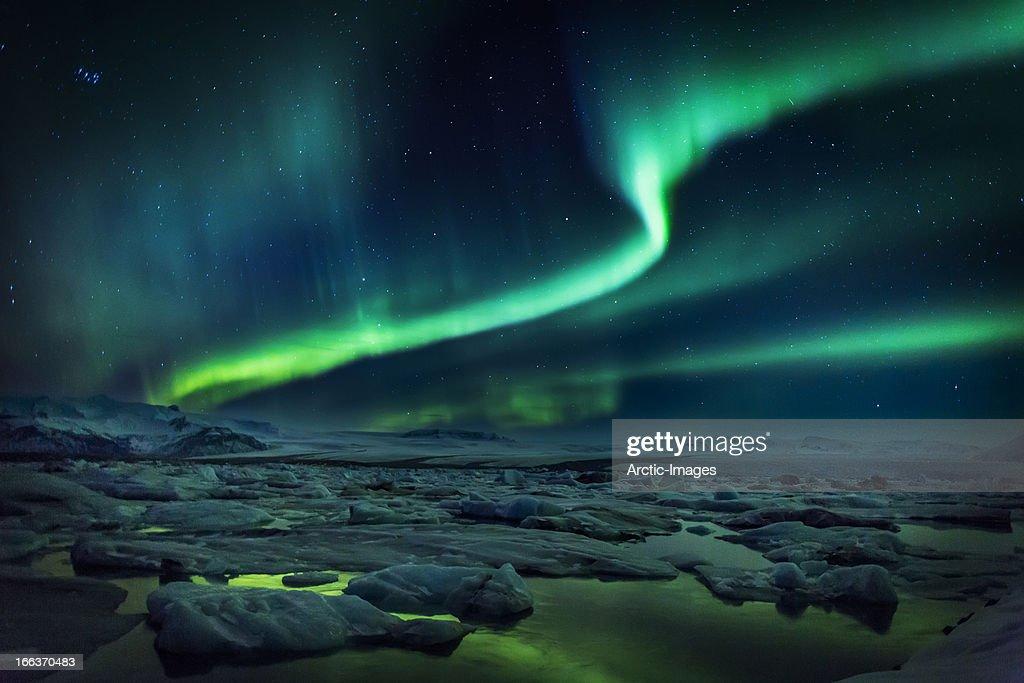 Aurora Borealis Or Northern Lights, Iceland Wall Art. Photo ID 166370483