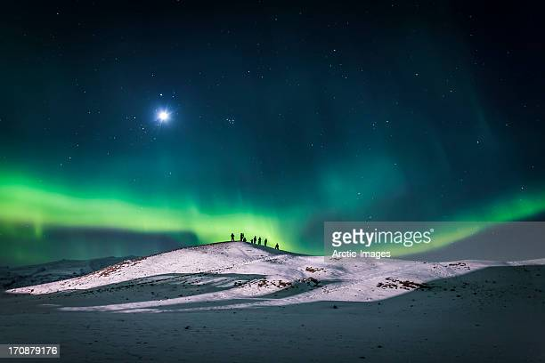 aurora borealis or northern lights, iceland - islanda foto e immagini stock