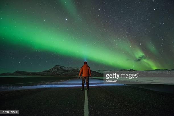 Aurora Borealis or Northern Lights, Iceland