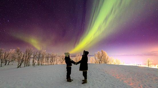 Aurora Borealis or Northern Lights, Kiruna, Sweden - gettyimageskorea