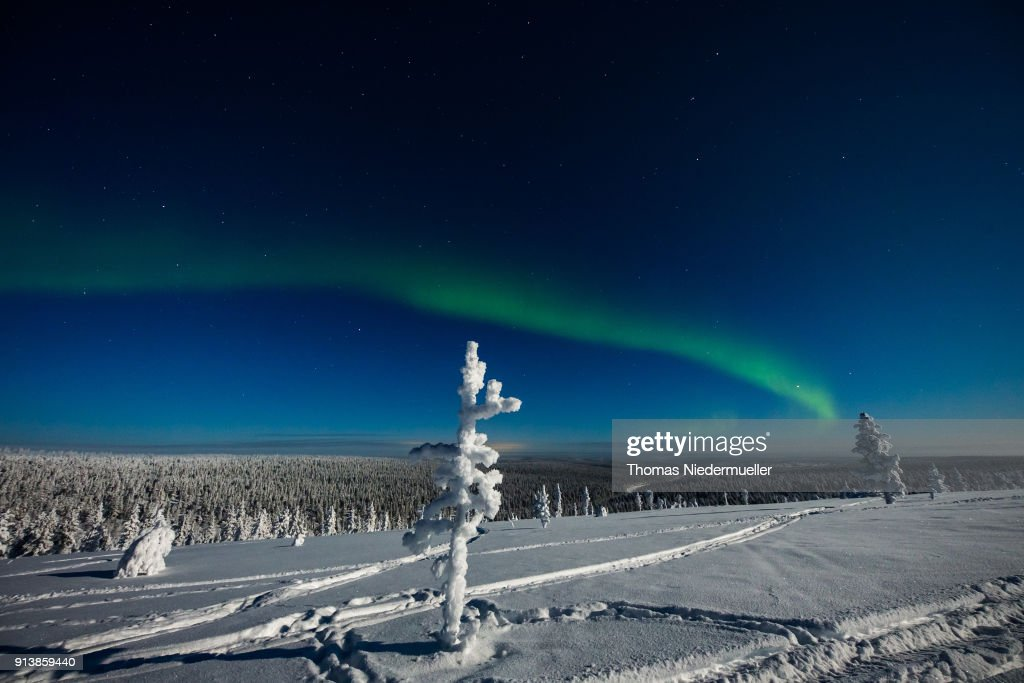 Winter Weather Northern Lights : News Photo