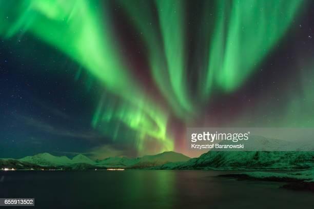 Aurora Borealis over Kvaloya