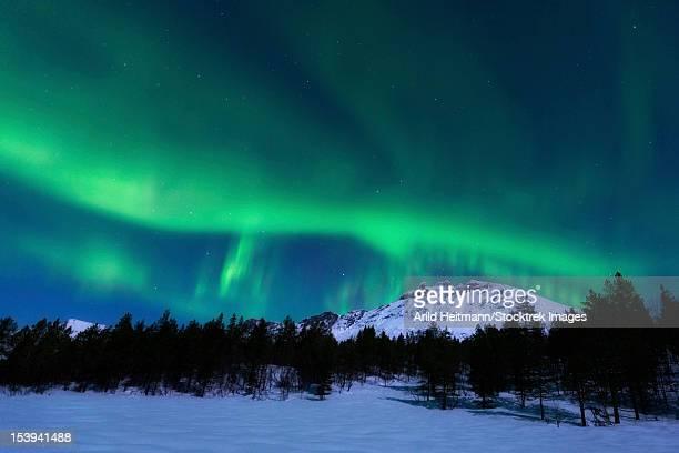 Aurora Borealis over Nova Mountain Wilderness, Troms, Norway.