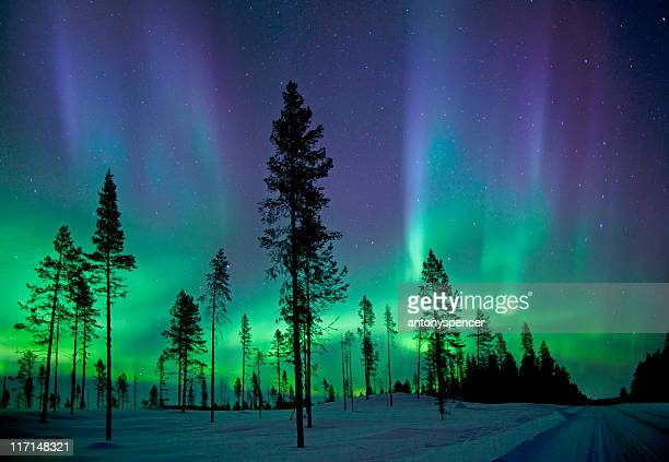 aurora borealis - aurora borealis stock pictures, royalty-free photos & images