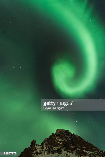 aurora borealis - westfjords iceland stock photos and pictures