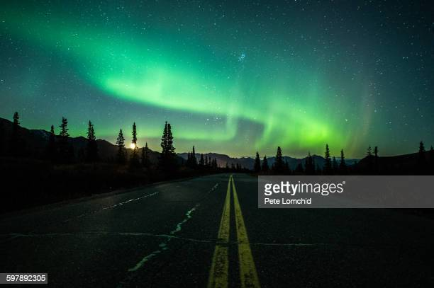 aurora borealis - mid section stock photos and pictures