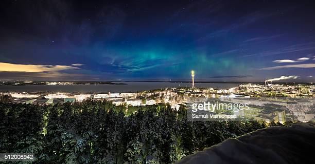 Aurora Borealis (Northern Lights) Seen in City of Tampere
