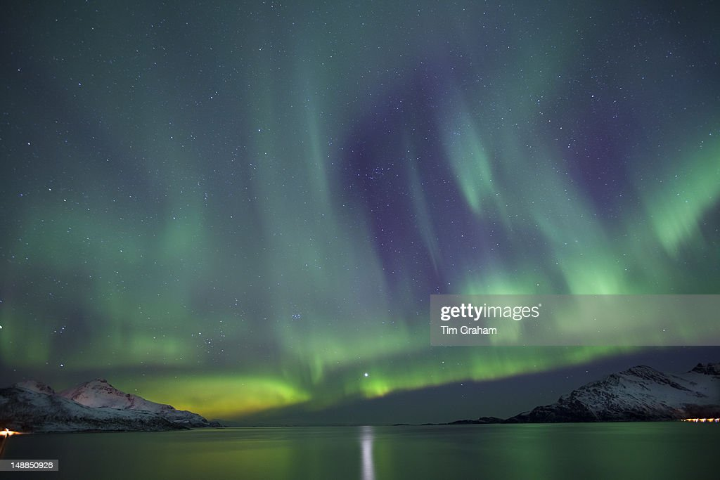 Aurora Borealis Northern Lights, Tromso, Norway : News Photo