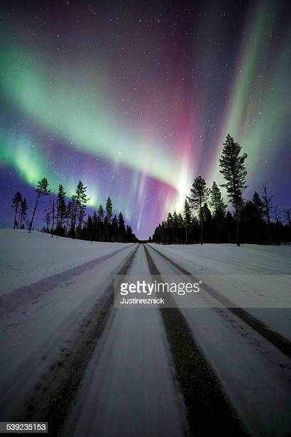 Aurora Borealis with Road