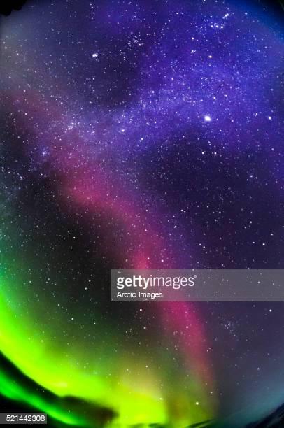 Aurora Borealis with the Milky Way Galaxy, Lapland, Sweden
