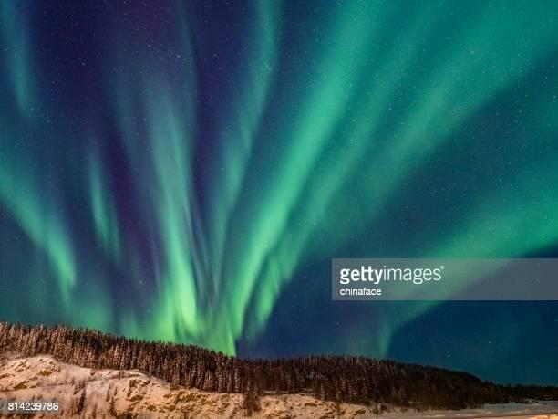 Aurora Boreal, territorio de Yukon, Canadá
