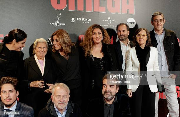 Aurora Carbonell Susana Diaz Estrella Morente and Eduardo Madina attend the 'Omega' premiere at Capitol cinema on November 16 2016 in Madrid Spain