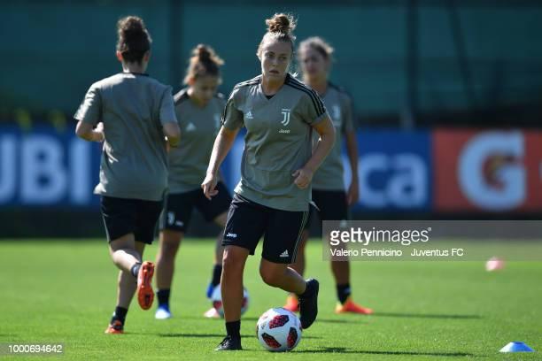 Aurora Galli during a Juventus Women training session at Juventus Center Vinovo on July 17 2018 in Vinovo Italy