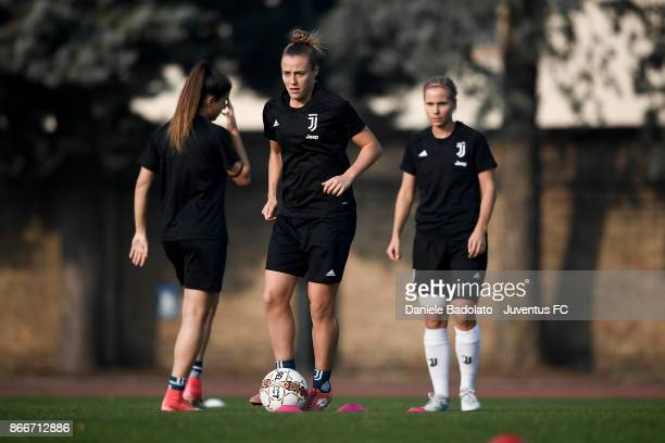 Aurora Galli during a Juventus Women training session on October 26 2017 in Turin Italy